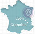 carte agence MonWebmarketing - Lyon Grenoble