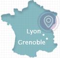 carte agence MonWebmarketing - Lyon Grenoble